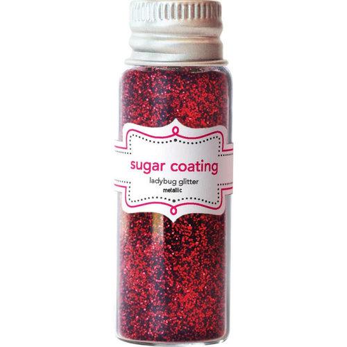 Doodlebug Design - Yankee Doodle Collection - Sugar Coating Metallic Glitter - Ladybug