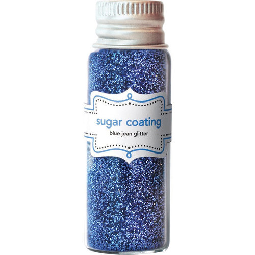 Doodlebug Design - Yankee Doodle Collection - Sugar Coating Metallic Glitter - Blue Jean