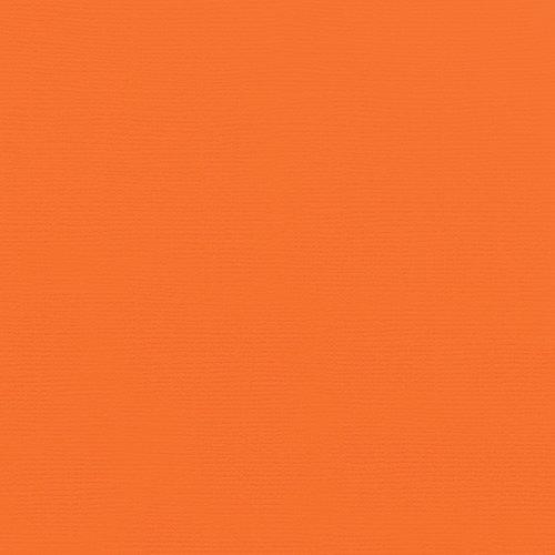 Doodlebug Design - 12 x 12 Textured Cardstock - Mandarin