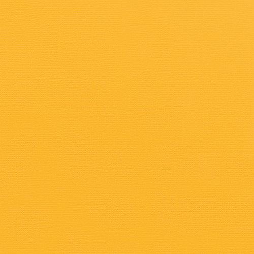 Doodlebug Design - 12 x 12 Textured Cardstock - Sunflower