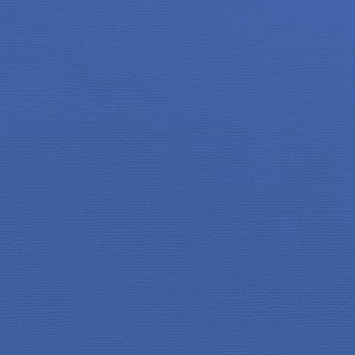 Doodlebug Design - 12 x 12 Textured Cardstock - Blue Jean