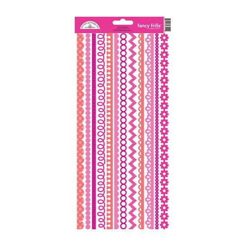 Doodlebug Design - Cardstock Stickers - Fancy Frills - Bubblegum