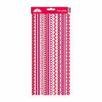 Doodlebug Design - Cardstock Stickers - Fancy Frills - Ladybug
