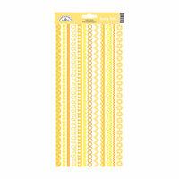 Doodlebug Design - Cardstock Stickers - Fancy Frills - Bumblebee