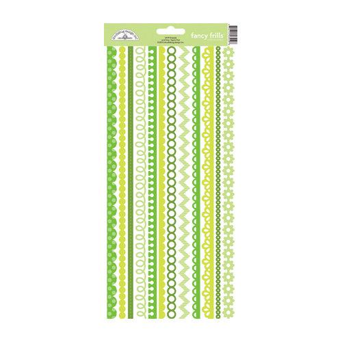 Doodlebug Design - Cardstock Stickers - Fancy Frills - Limeade