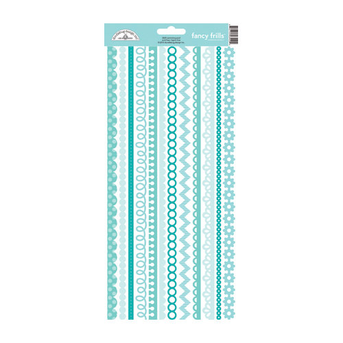 Doodlebug Design - Cardstock Stickers - Fancy Frills - Swimming Pool
