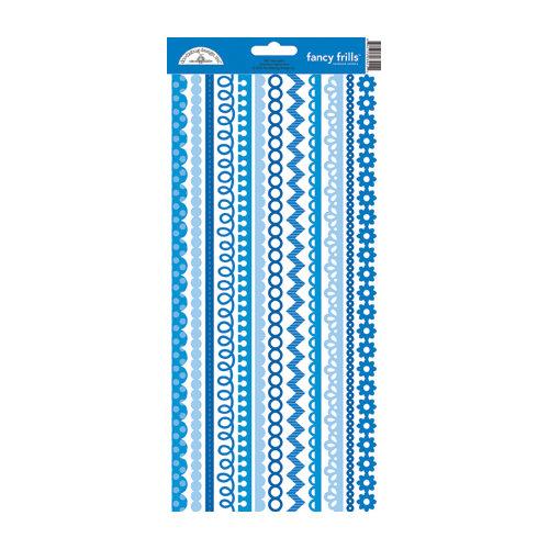 Doodlebug Design - Cardstock Stickers - Fancy Frills - Blue Jean