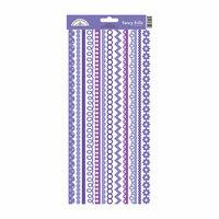 Doodlebug Design - Cardstock Stickers - Fancy Frills - Lilac