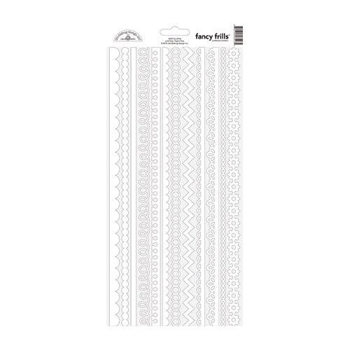 Doodlebug Design - Cardstock Stickers - Fancy Frills - Lily White