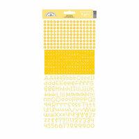 Doodlebug Design - Alphabet Cardstock Stickers - Teensy Type -Bumblebee