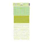 Doodlebug Design - Alphabet Cardstock Stickers - Teensy Type - Limeade