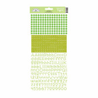 Doodlebug Design - Alphabet Cardstock Stickers - Teensy Type - Limeade