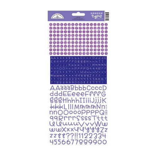 Doodlebug Design - Alphabet Cardstock Stickers - Teensy Type - Lilac
