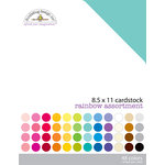 Doodlebug Design - 8.5 x 11 Textured Cardstock Assortment - Rainbow