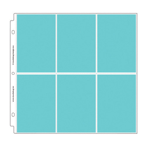 Doodlebug Design Vertical Photo//Recipe Card Protectors for Scrapbooking 12 by 12-Inch