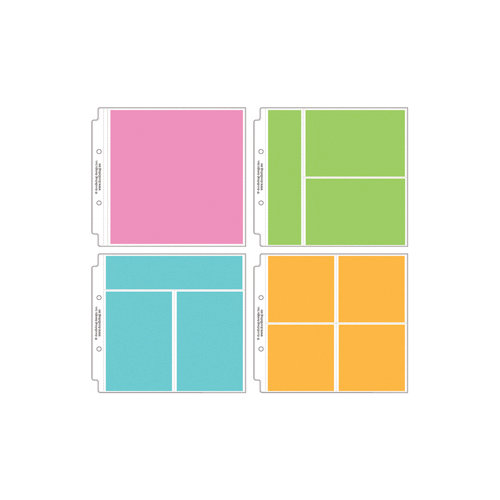 Doodlebug Design - 8 x 8 Storybook Album Protectors - Assortment - 12 Pack