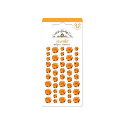 Doodlebug Design - Jewels Adhesive Rhinestones - Tangerine