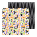 Doodlebug Design - Haunted Manor Collection - Halloween - 12 x 12 Double Sided Paper - Spooky Type