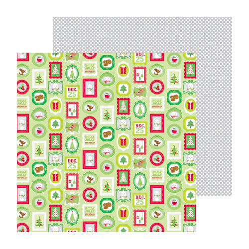Doodlebug Design - North Pole Collection - Christmas - 12 x 12 Double Sided Paper - Festive Frames