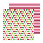Doodlebug Design - North Pole Collection - Christmas - 12 x 12 Double Sided Paper - Jolly Lollies