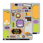 Doodlebug Design - Haunted Manor Collection - Halloween - Cute Cuts - 12 x 12 Cardstock Die Cuts