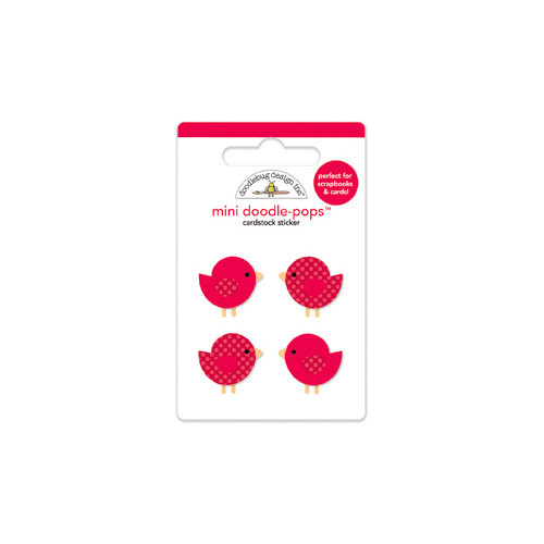 Doodlebug Design - North Pole Collection - Christmas - Doodle-Pops - 3 Dimensional Cardstock Stickers - Mini - Festive Flock