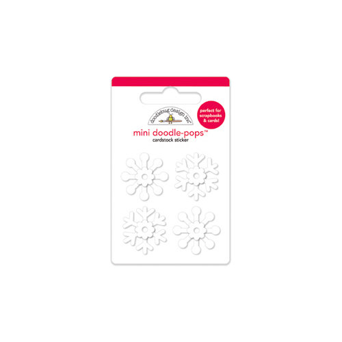 Doodlebug Design - North Pole Collection - Christmas - Doodle-Pops - 3 Dimensional Cardstock Stickers - Mini - Flurry