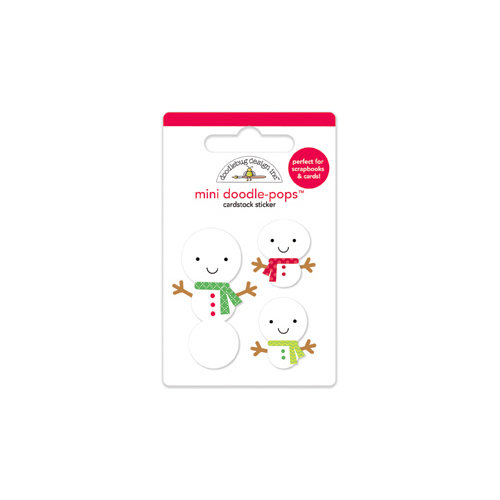 Doodlebug Design - North Pole Collection - Christmas - Doodle-Pops - 3 Dimensional Cardstock Stickers - Mini - Snow Buddies