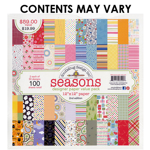 Doodlebug Design - Designer Paper Value Pack - Seasons - 2nd Edition