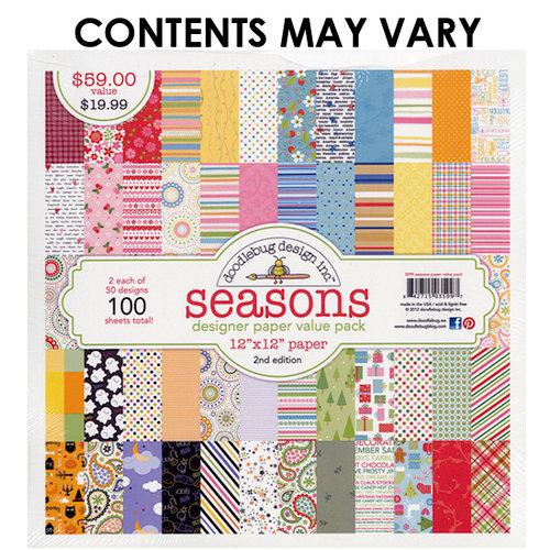 Doodlebug Design - Designer Paper Value Pack - Seasons - 2nd Edition
