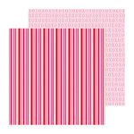 Doodlebug Design - Lovebirds Collection - 12 x 12 Double Sided paper - Love Lines