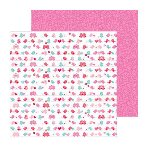 Doodlebug Design - Lovebirds Collection - 12 x 12 Double Sided paper - Love Birds