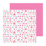 Doodlebug Design - Lovebirds Collection - 12 x 12 Double Sided paper - Love Birds
