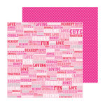 Doodlebug Design - Lovebirds Collection - 12 x 12 Double Sided paper - All My Love