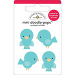 Doodlebug Design - Easter Express Collection - Doodle-Pops - 3 Dimensional Cardstock Stickers - Bluejays Mini