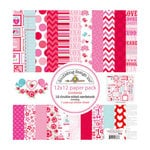 Doodlebug Design - Lovebirds Collection - 12 x 12 Paper Pack