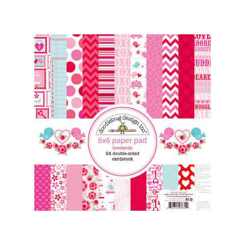 Doodlebug Design - Lovebirds Collection - 6 x 6 Paper Pad