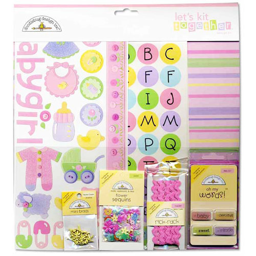 Doodlebug Design Let's Kit Together - Baby Girl