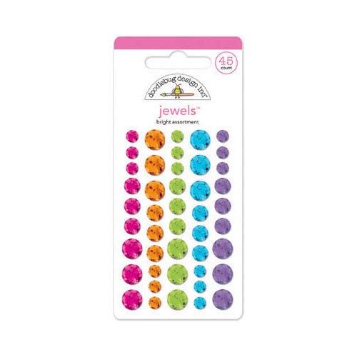 Doodlebug Design - Fruit Stand Collection - Jewels - Adhesive Rhinestones - Bright