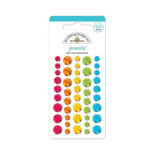 Doodlebug Design - Take Note Collection - Jewels - Adhesive Rhinestones