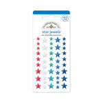 Doodlebug Design - Stars and Stripes Collection - Adhesive Rhinestones - Stars - Red, White and Blue