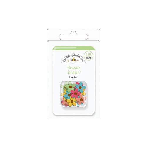 Doodlebug Design - Flower Box Collection - Brads - Flowers