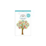 Doodlebug Design - Flower Box Collection - Doodle-Pops - 3 Dimensional Cardstock Stickers - Mini - Spring Tree