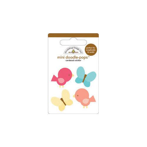 Doodlebug Design - Flower Box Collection - Doodle-Pops - 3 Dimensional Cardstock Stickers - Mini - Take Flight