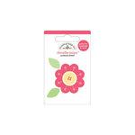 Doodlebug Design - Flower Box Collection - Doodle-Pops - 3 Dimensional Cardstock Stickers - Mini - Petunia