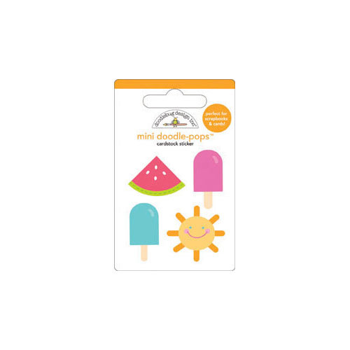 Doodlebug Design - Fruit Stand Collection - Doodle-Pops - 3 Dimensional Cardstock Stickers - Mini - Summer Fun