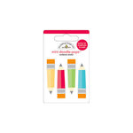 Doodlebug Design - Take Note Collection - Doodle-Pops - 3 Dimensional Cardstock Stickers - Mini - Colored Pencils