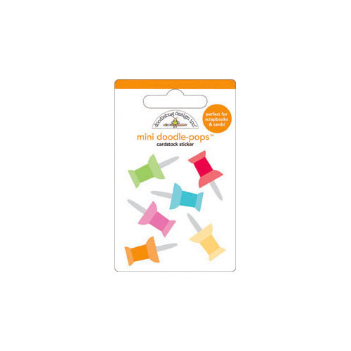 Doodlebug Design - Take Note Collection - Doodle-Pops - 3 Dimensional Cardstock Stickers - Mini - Push Pins
