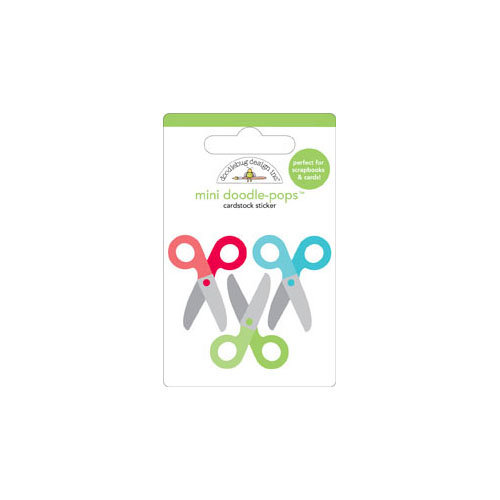 Doodlebug Design - Take Note Collection - Doodle-Pops - 3 Dimensional Cardstock Stickers - Mini - Crafty Cutters