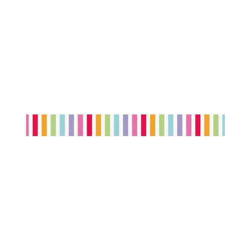 Doodlebug Design - Fruit Stand Collection - Washi Tape - Fruity Stripe